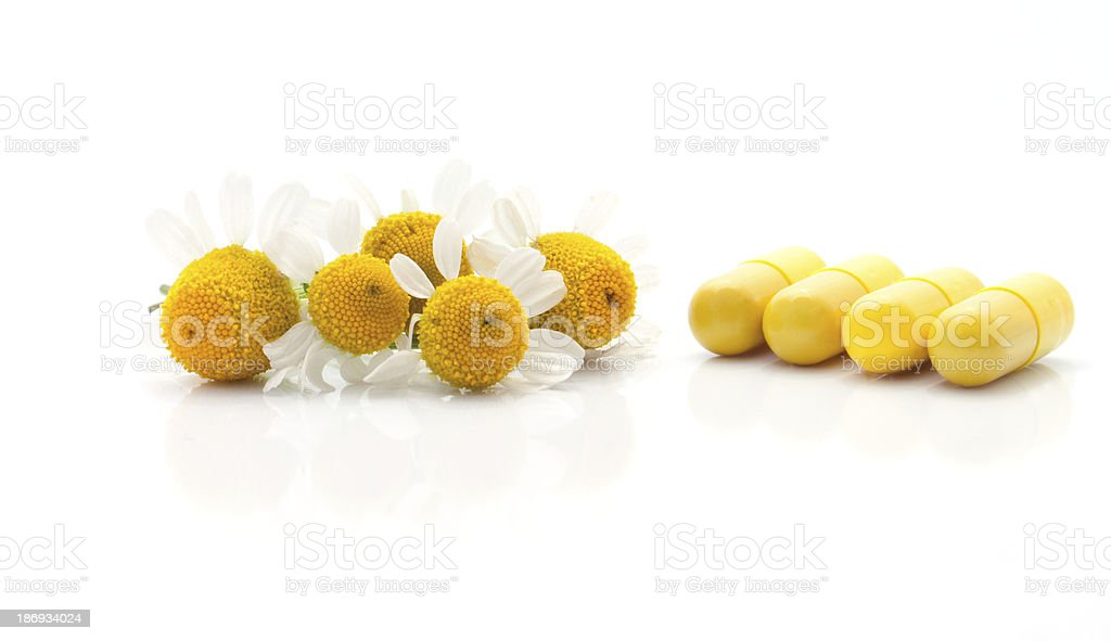 The synthetic drugs and natural  raw materials for medicine stock photo