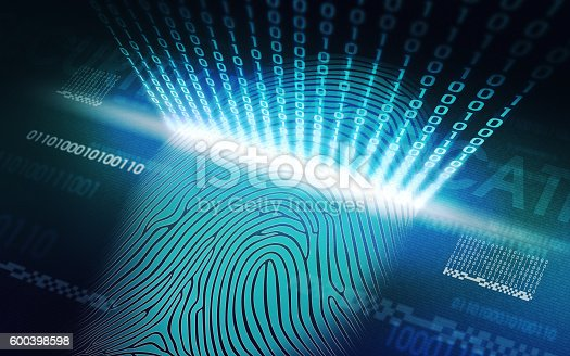 istock The system of fingerprint scanning - biometric security devices 600398598