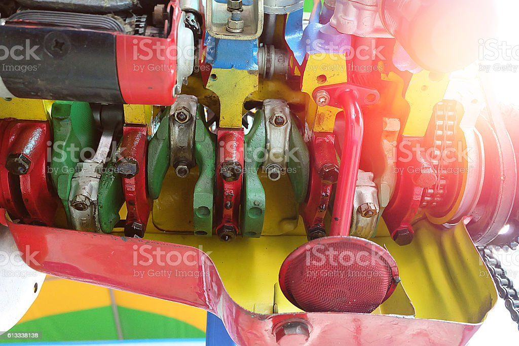 The system of the car Engine and light. stock photo