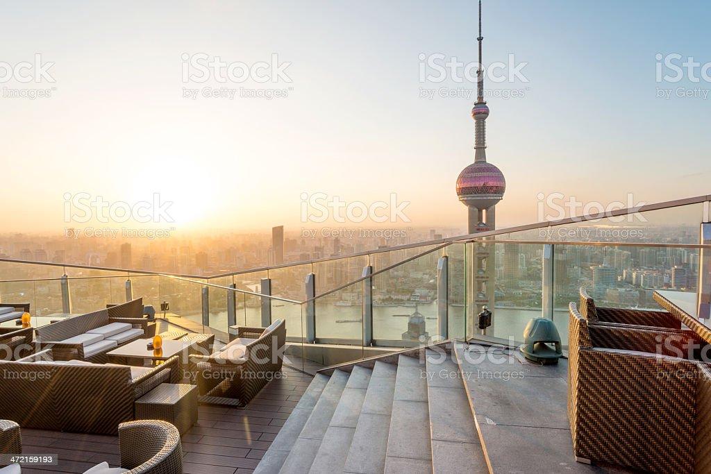 a mesa de café em Xangai, china - foto de acervo