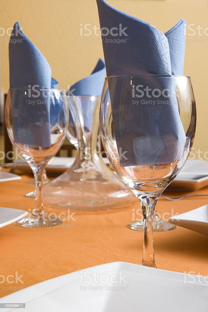 the table set stock photo