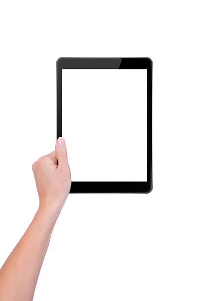 Die tablet in einer hand – Foto