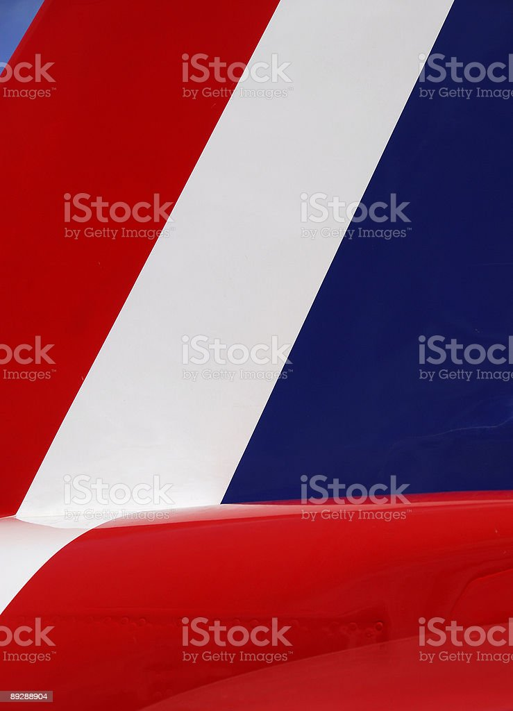 The tail from Red Arrow royalty-free stock photo