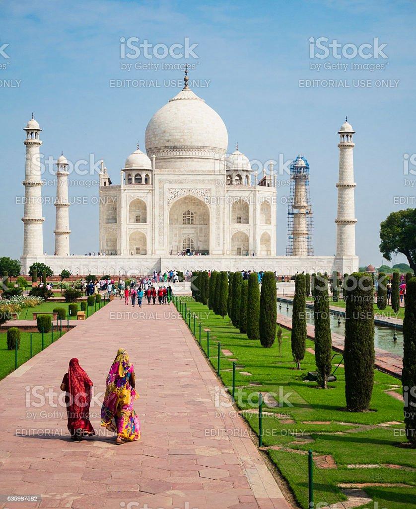 The Taj Mahal Agra India stock photo