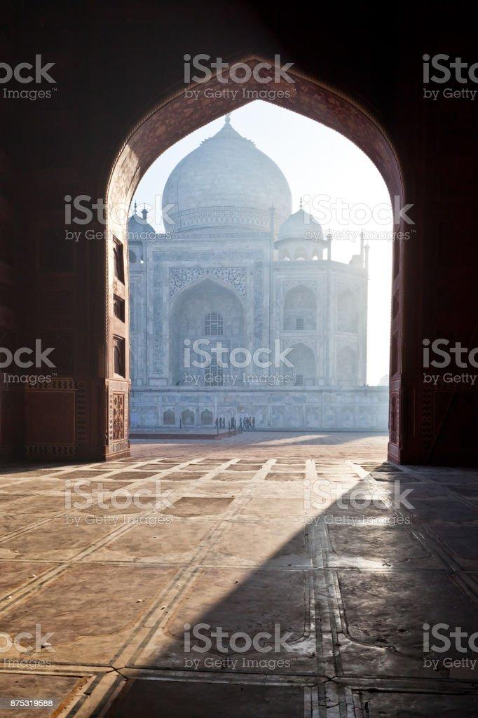 The Taj Mahal, Agra stock photo