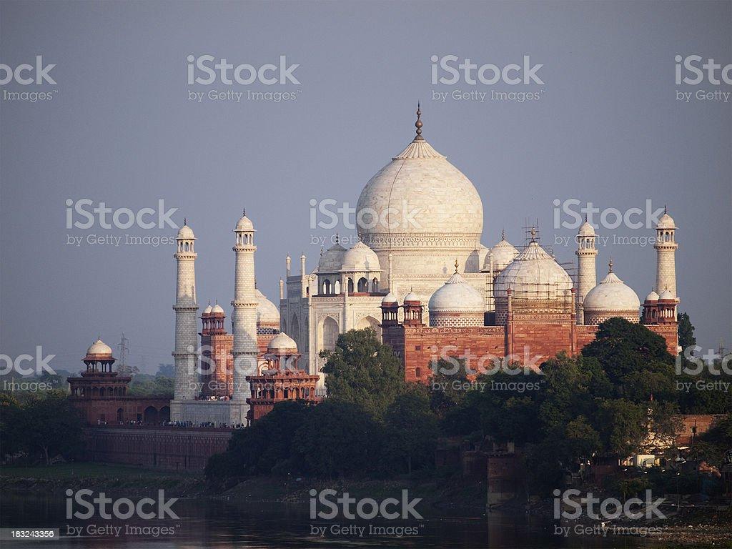 The Taj Mahal from Agra Fort royalty-free stock photo