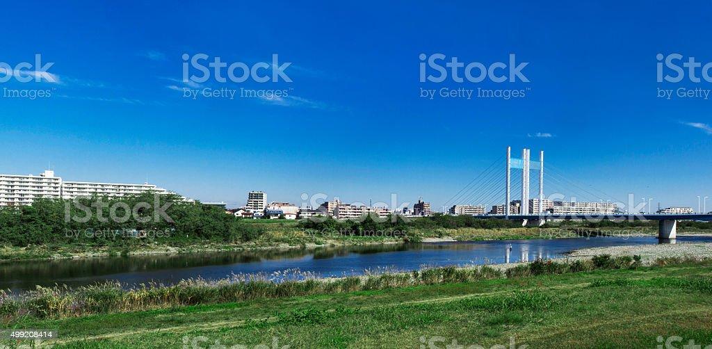The Tama River stock photo