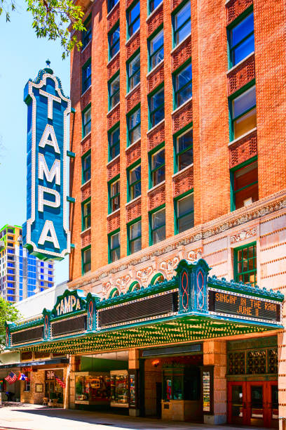 The Tampa Theater building on Franklin Street in downtown Tampa FL stock photo