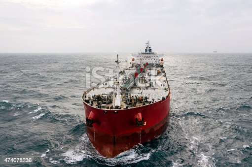 The tanker in the high sea