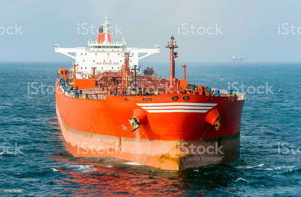 The tanker stock photo