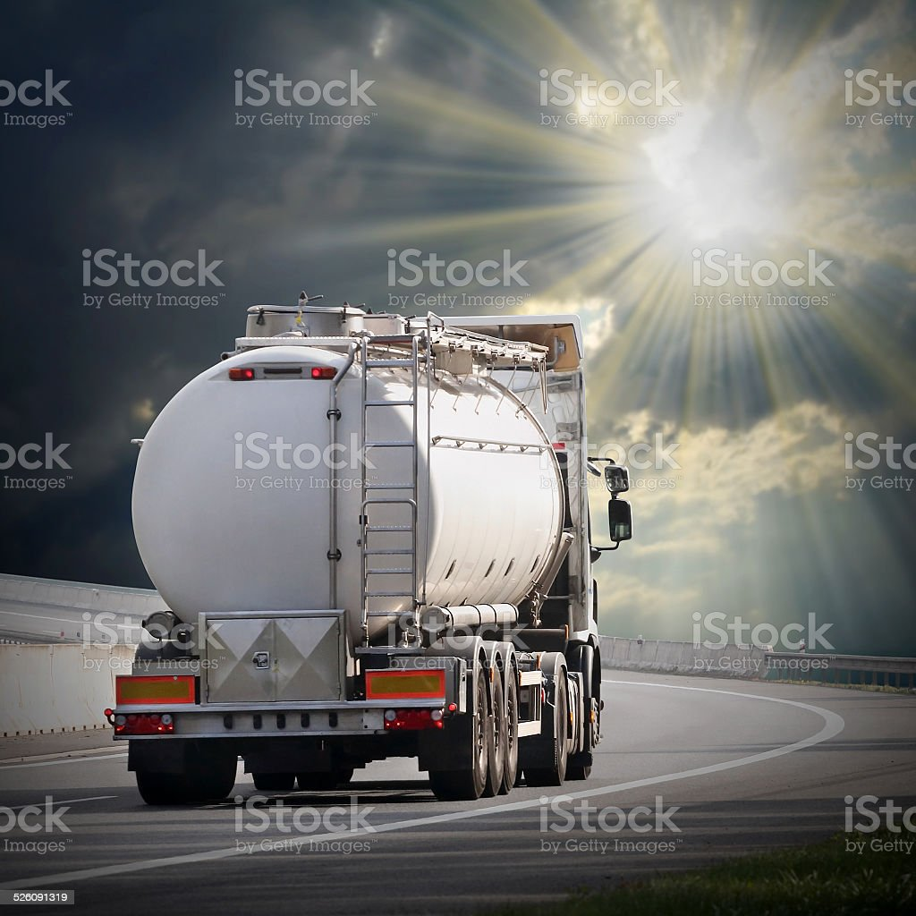 The tanker truck. stock photo