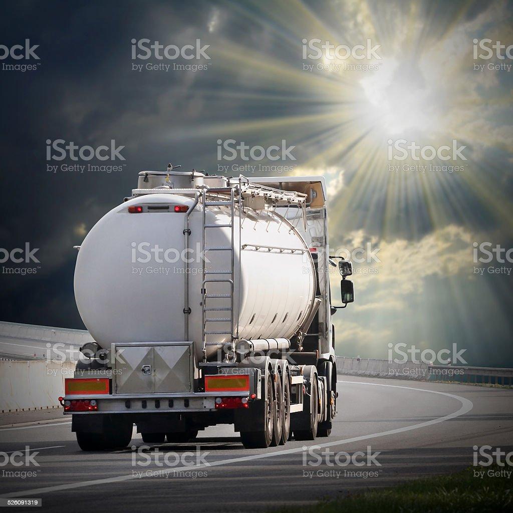 The tanker truck. stock photo