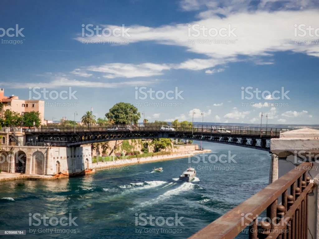 the taranto swing bridg stock photo