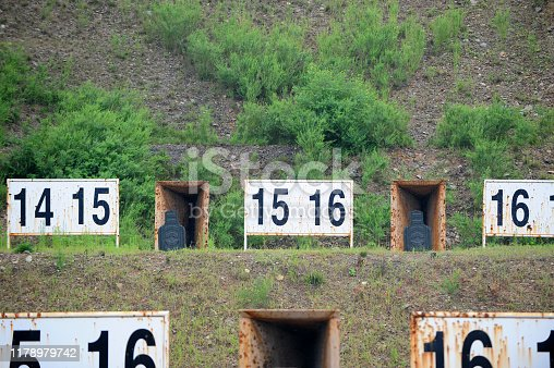1048647890 istock photo The target of the military shooting range 1178979742