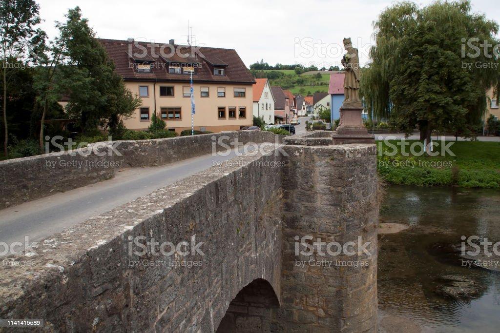 De Tauber brug werd gebouwd in 1733 - Royalty-free Architectuur Stockfoto