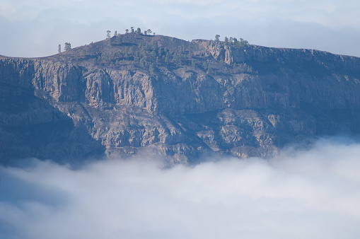 The Tauro Mountain and sea of clouds.