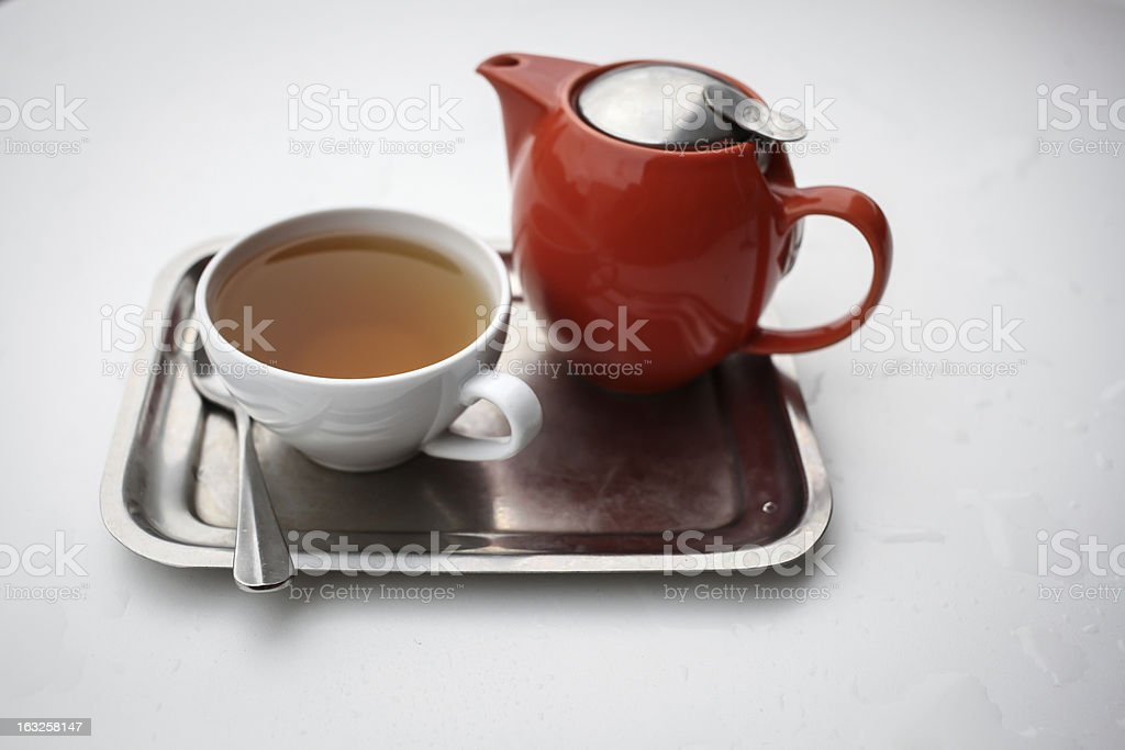 The Tea Is served royalty-free stock photo