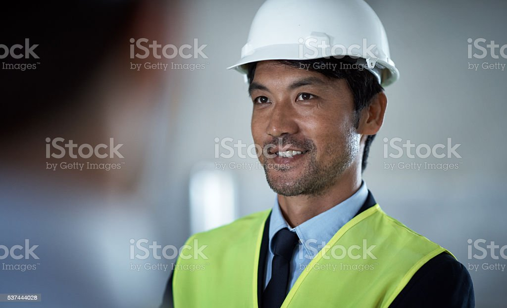 The team to oversee quality construction stock photo