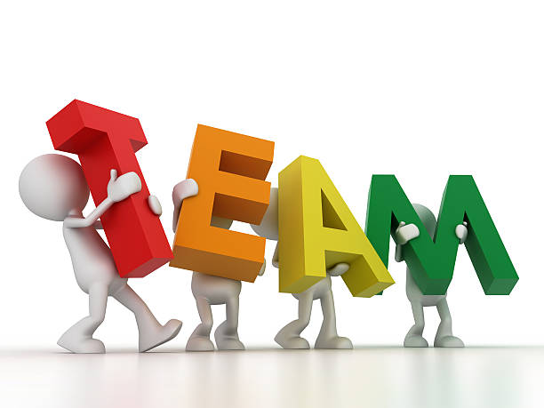 the team word - stick figure stock photos and pictures