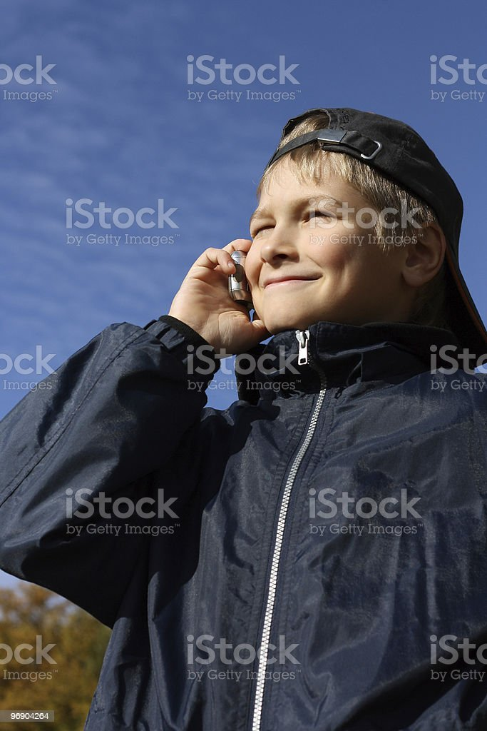The teenager royalty-free stock photo