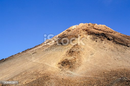 istock The Teide Volcano. Hiking trail to ascend and reach to the crater of the Teide Volcano in Tenerife Island, Canary Islands, Spain. 1309953971