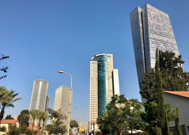 The Tel Aviv skyline. stock photo