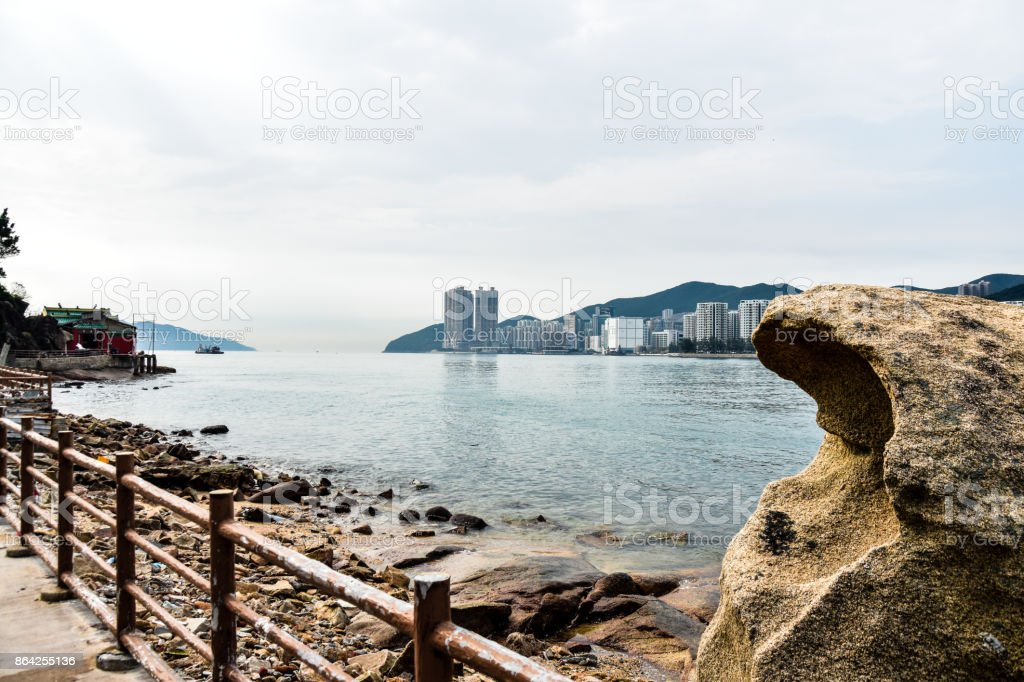 The template near the sea royalty-free stock photo