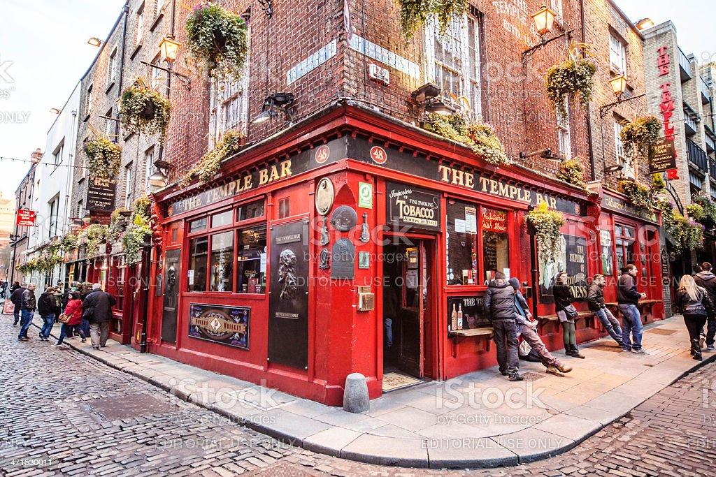 Il Temple Bar a Dublino - foto stock