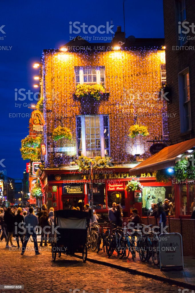 The Temple Bar Pub at Temple Bar District in Dublin, Ireland stock photo