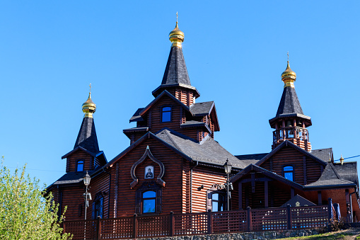 istock The temple in honor of the icon of the Mother of God