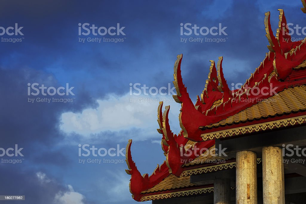The Temple in  Thailand. royalty-free stock photo
