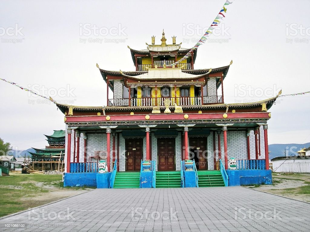 The Temple in The Steppe stock photo