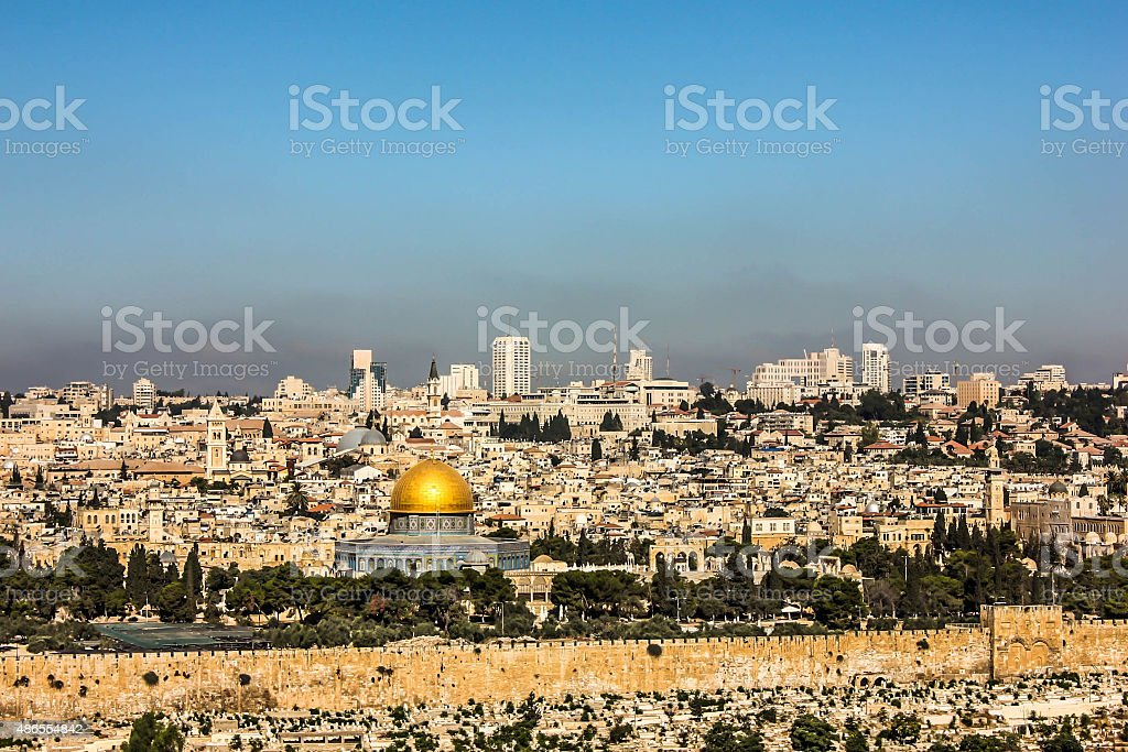 The Temple Mount stock photo
