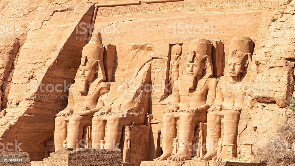 The temple of Abu Simbel in Egypt stock photo