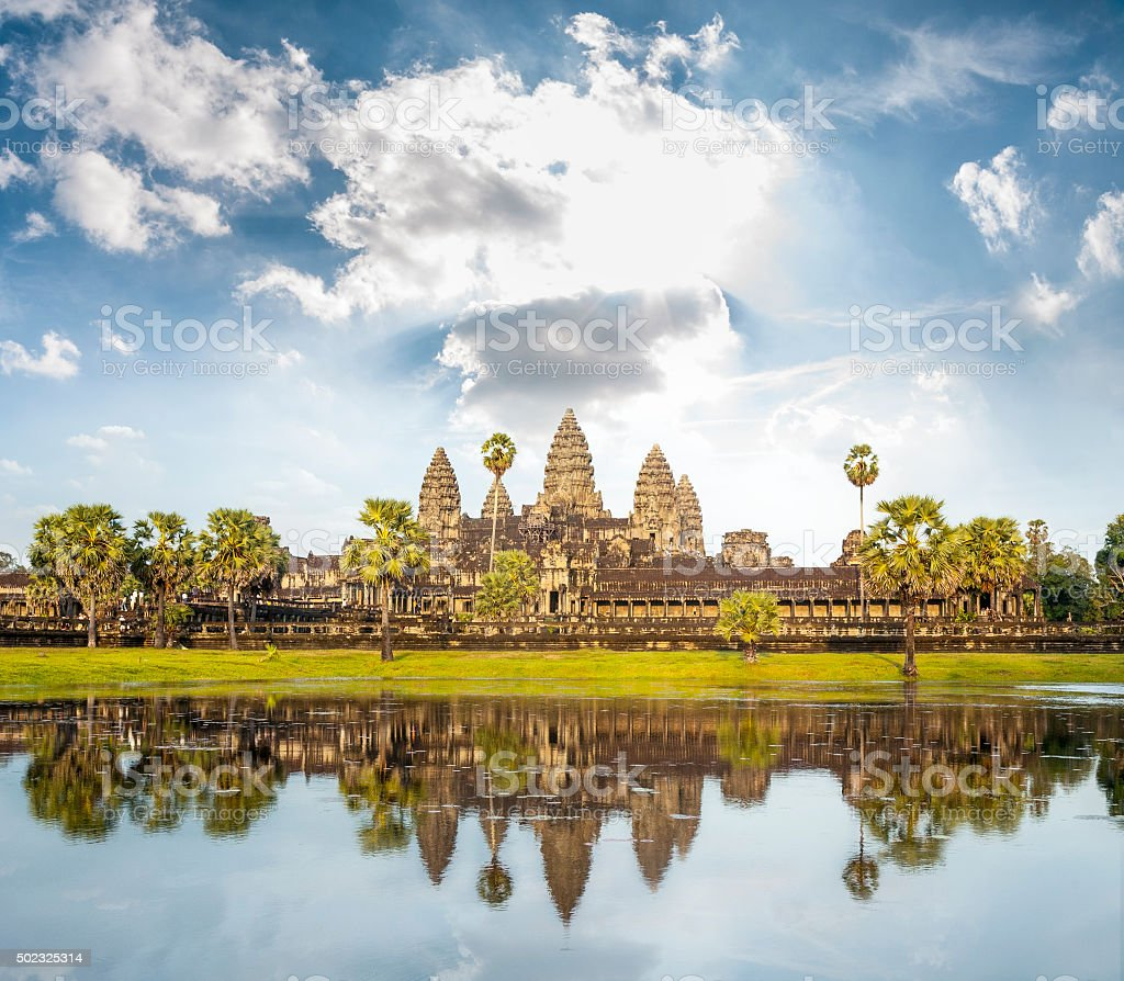 The Temple Of Angkor Wat In Cambodia stock photo