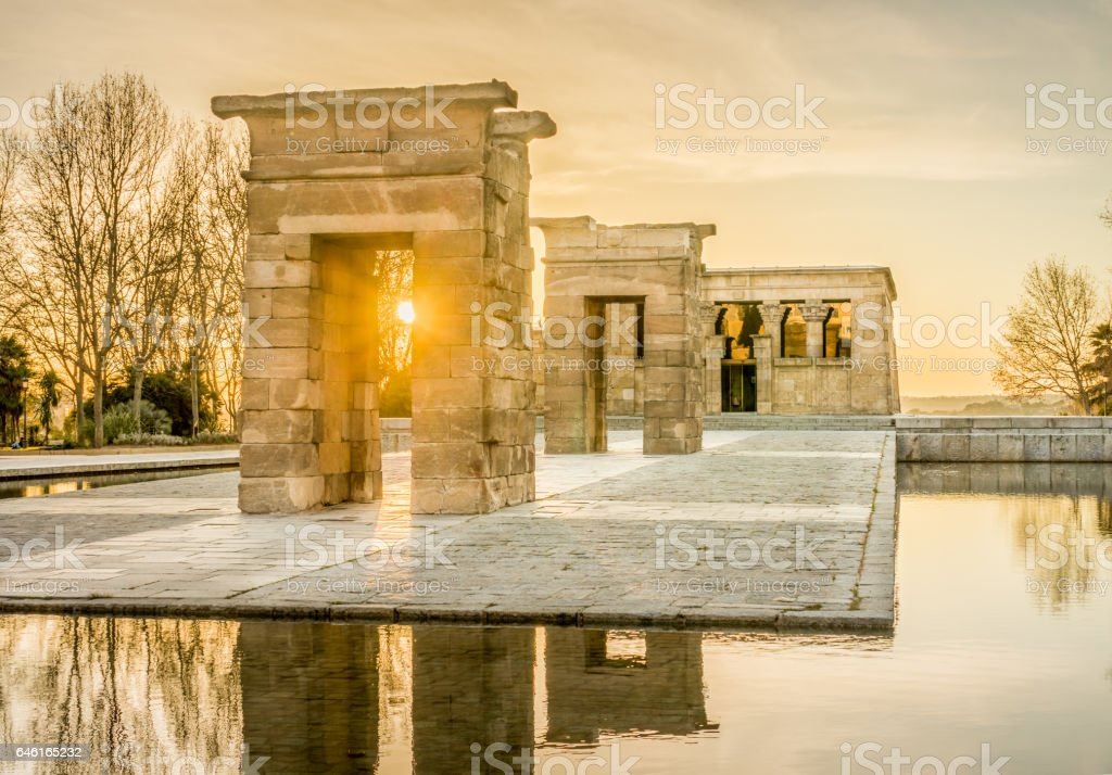 The Temple of Debod stock photo