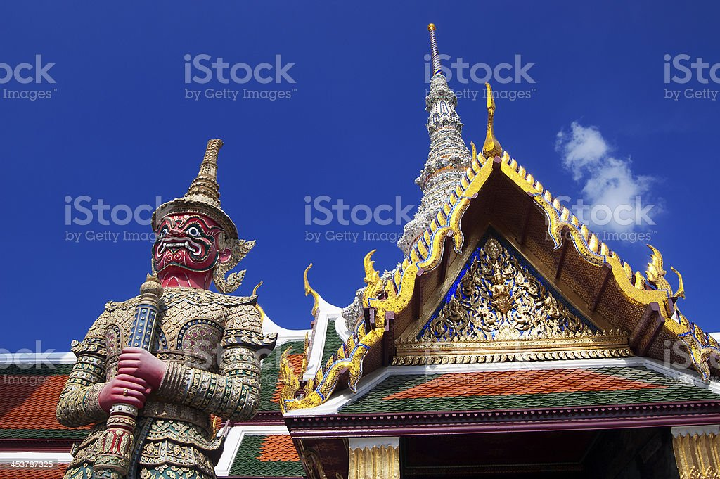 The Temple of Emerald Buddha royalty-free stock photo