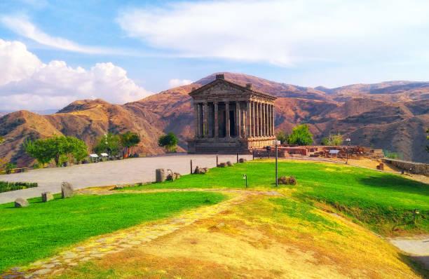 The Temple of Garni, Armenia.UNESCO World heritage museum The Temple of Garni, Armenia.UNESCO World heritage museum yerevan stock pictures, royalty-free photos & images