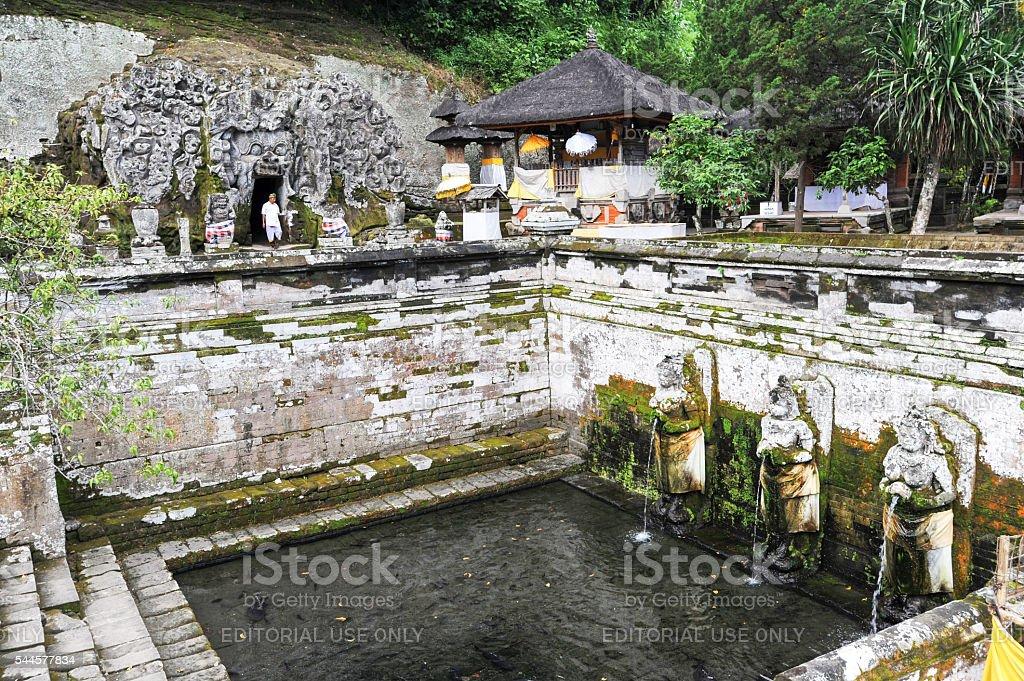 The temple of Goa Gajah near Ubud stock photo