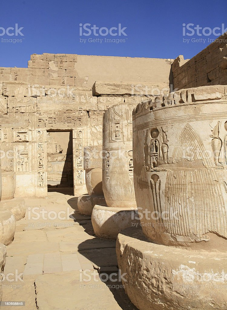 The Temple of Habu.  (Ramese 3rd) royalty-free stock photo
