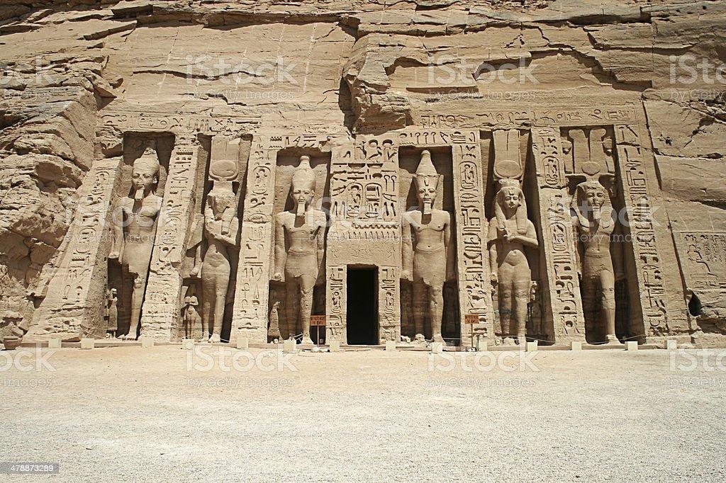 The Temple of Hathor and Nefertari, Abu Simbel, Egypt stock photo