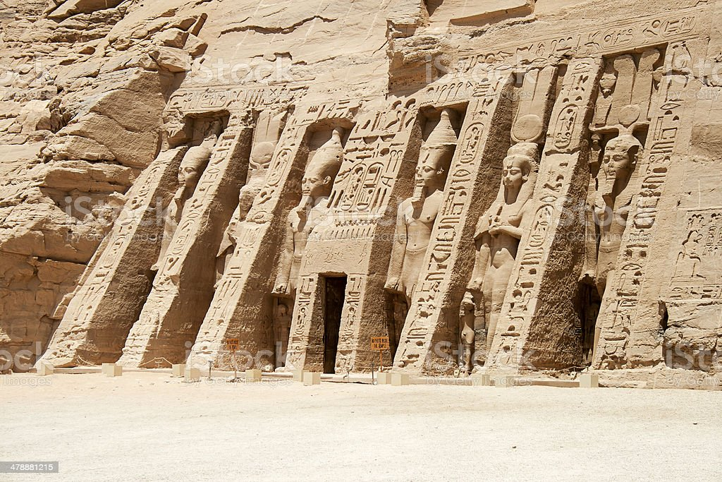 The Temple of Hathor and Nefertari, Abu Simbel, Egypt royalty-free stock photo