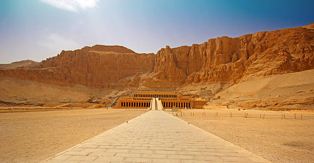 The temple of Hatshepsut near Luxor in Egypt The temple of Hatshepsut near Luxor in Egypt valley of the kings stock pictures, royalty-free photos & images