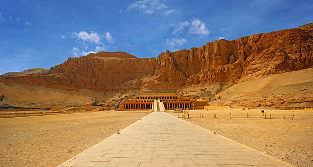 The temple of Hatshepsut near Luxor in Egypt Luxor, Egypt - The temple of Hatshepsut near Luxor in Egypt valley of the kings stock pictures, royalty-free photos & images