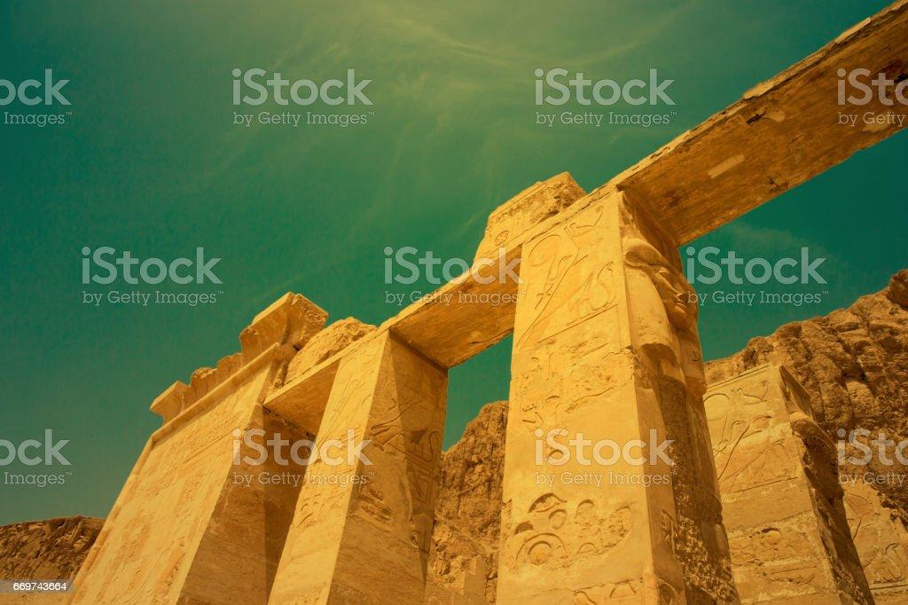 The temple of Hatshepsut near Luxor in Egypt stock photo