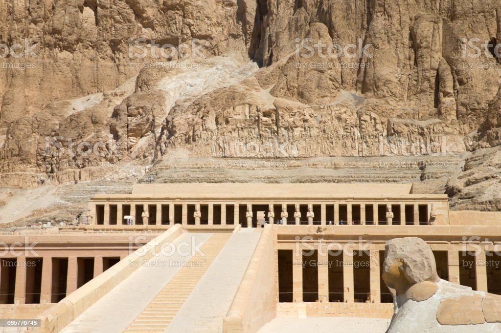 The temple of Hatshepsut near Luxor in Egypt royalty-free stock photo