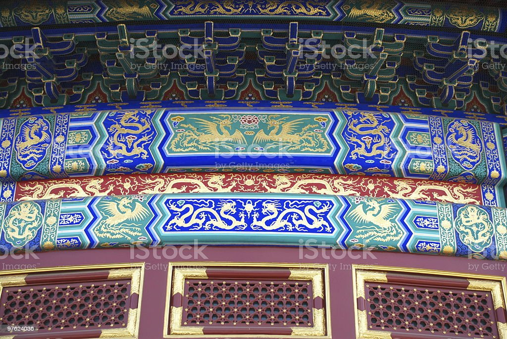 The Temple of Heaven detail royalty-free stock photo