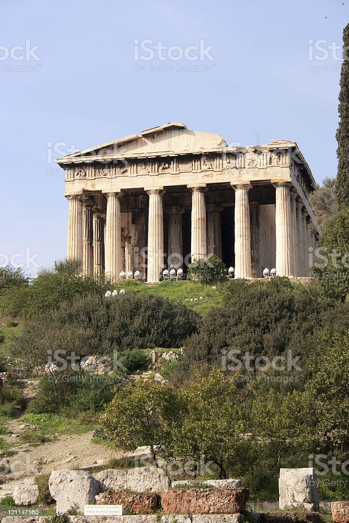 The Temple of Hephestis in Athens, Greece. royalty-free stock photo