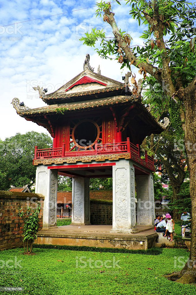 The Temple Of Literature (Van Mieu) Hanoi stock photo