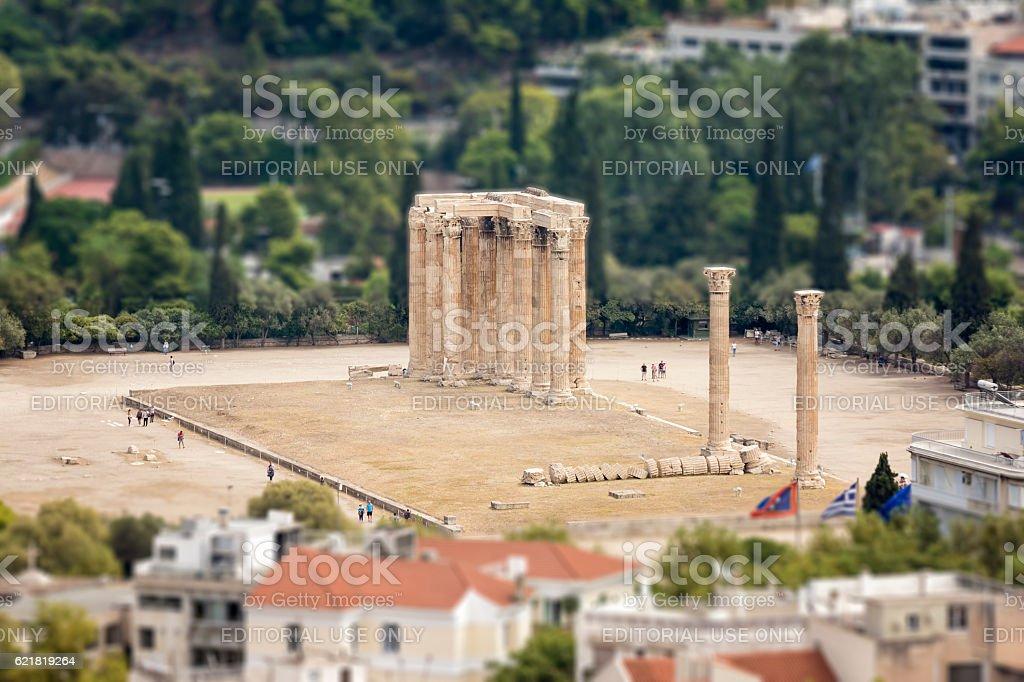 The Temple of Olympian Zeus, Athens, Greece stock photo